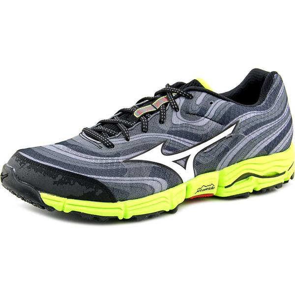 Mizuno Men's Wave Kazan Grey Mesh Athletic Shoes