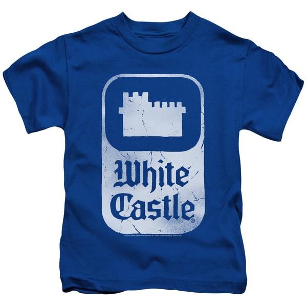 White Castle/Classic Logo Short Sleeve Juvenile Graphic T-Shirt in Royal Blue