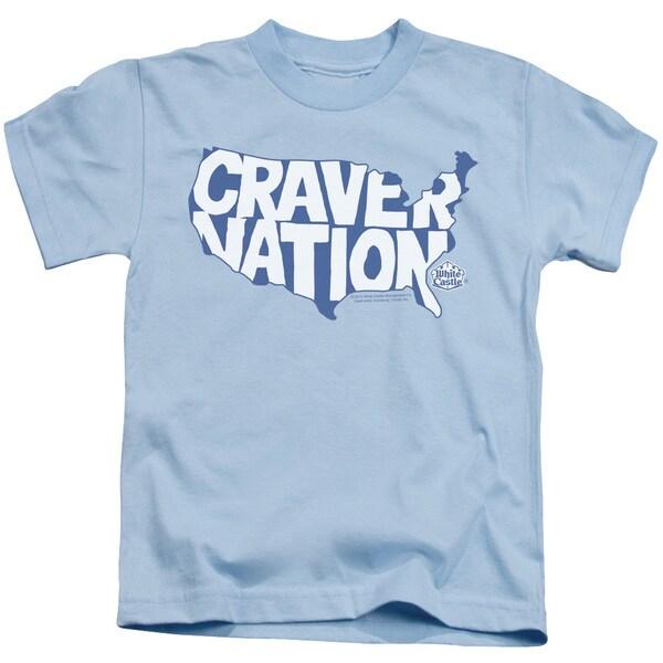 White Castle/Craver Nation Short Sleeve Juvenile Graphic T-Shirt in Light Blue