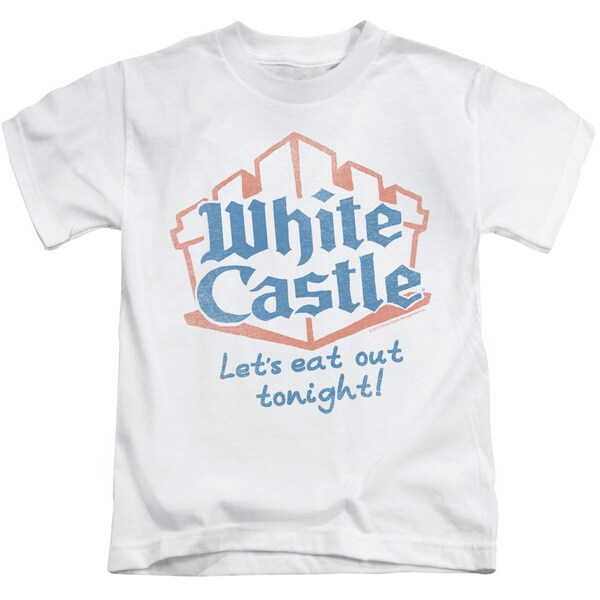 White Castle/Lets Eat Short Sleeve Juvenile Graphic T-Shirt in White