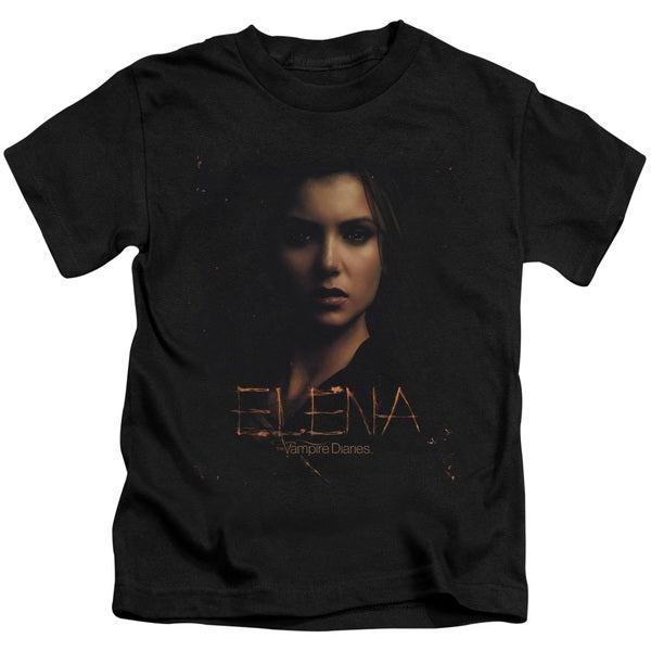 Vampire Diaries/Elena Smokey Veil Short Sleeve Juvenile Graphic T-Shirt in Black