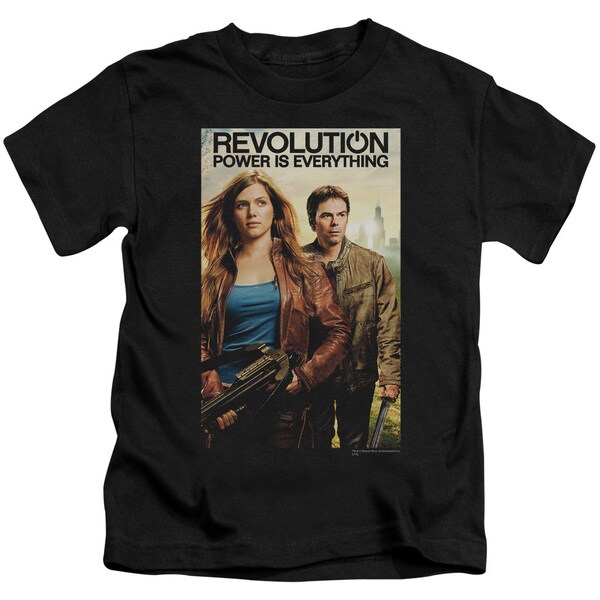 Revolution/Poster Short Sleeve Juvenile Graphic T-Shirt in Black