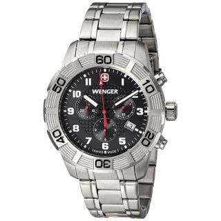 Wenger Men's 01.0853.102 'Roadster' Chronograph Stainless Steel Watch