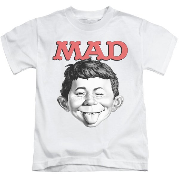 Mad/U Mad Short Sleeve Juvenile Graphic T-Shirt in White