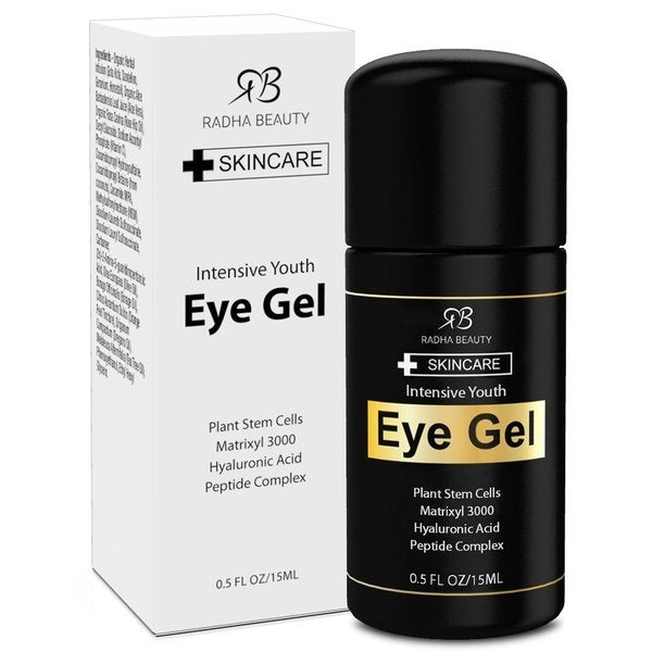 Radha Beauty 0.5-ounce Eye Gel for Puffiness, Dark Circles, Wrinkles & Bags