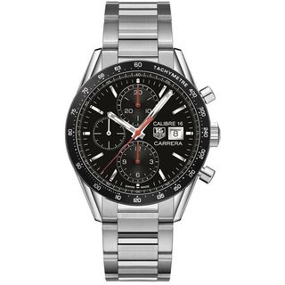 Tag Heuer Men's CV201AK.BA0727 'Carrera' Chronograph Automatic Stainless Steel Watch