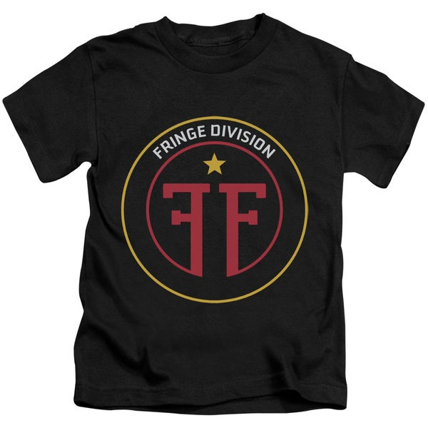 Fringe/Division Short Sleeve Juvenile Graphic T-Shirt in Black