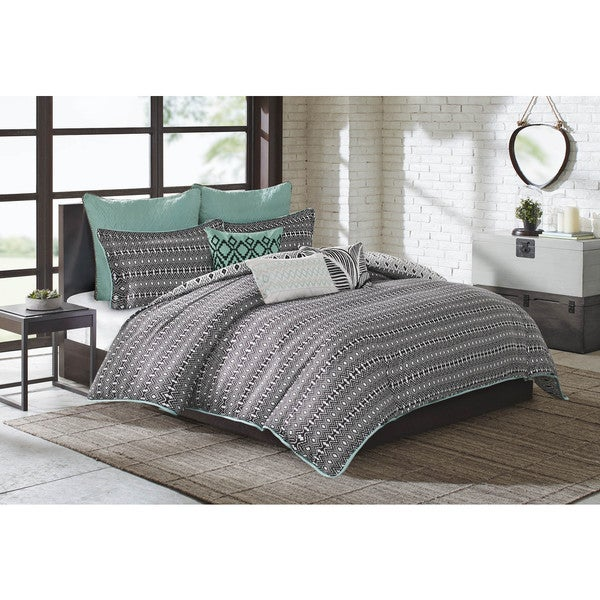 Echo Design Kalea Black Cotton Duvet Cover Mini Set 20040618