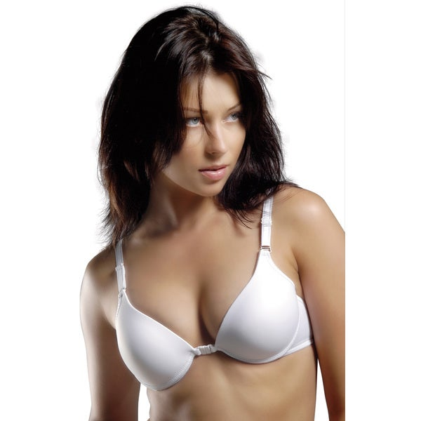 Lightly Lined Deep Plunge Convertible Front-closure Underwire Bra