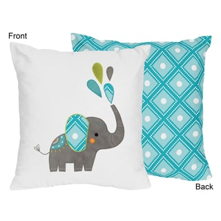 Decorative Accent Throw Pillow for the Mod Elephant Collection by Sweet Jojo Designs