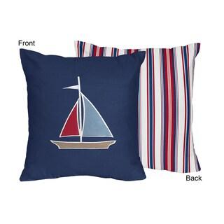 Sweet Jojo Designs Nautical Nights 16-inch Decorative Accent Throw Pillow