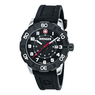 Wenger Men's 01.0851.105 'Roadster' Black Silicone Watch