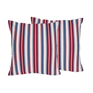 Sweet Jojo Designs Nautical Nights Decorative Accent Throw Pillow (Set of 2)