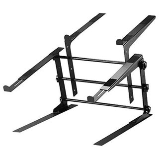Pyle PLPTS38 Universal Dual Device Laptop Stand/Sound Equipment DJ Mixing Workstation
