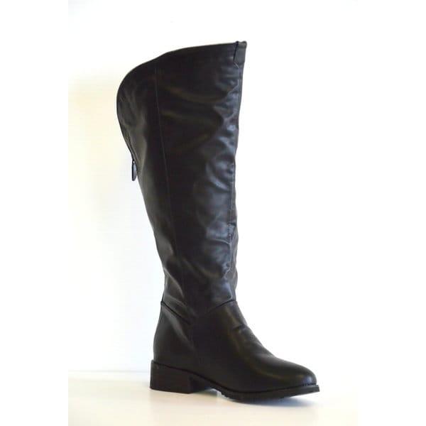Ashley Back Zipper Flat Boot