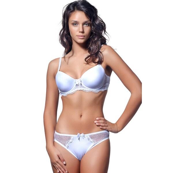 White Lace Convertible Bra and Panty Set
