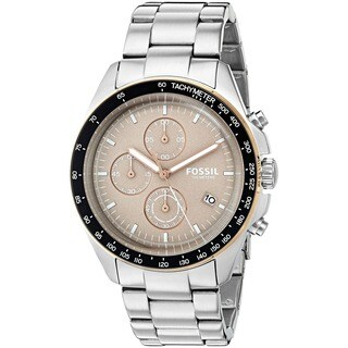 Fossil Men's CH3036 Sport 54 Chronograph Beige Dial Stainless Steel Bracelet Watch