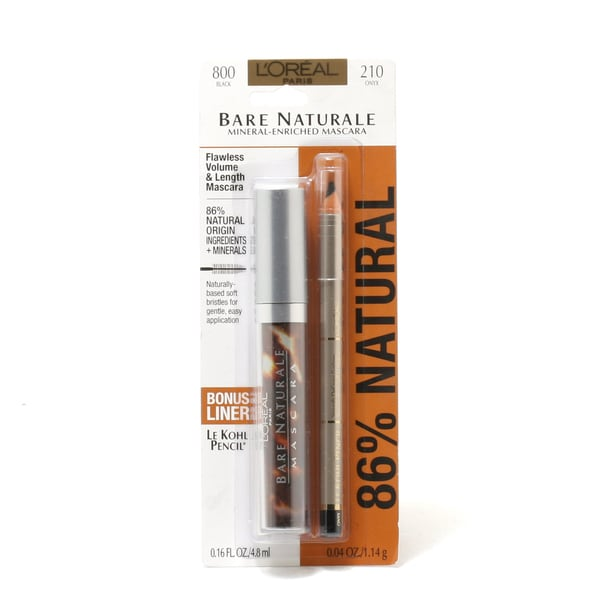 L'oreal Bare Naturale Duo Black Mascara and Onyx Kohl Eyeliner