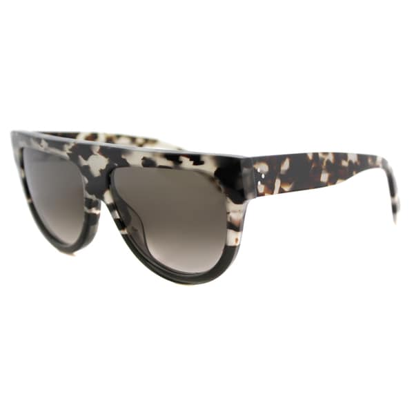 Celine CL 41026 VNO Shadow Havana Grey Plastic Fashion Grey Gradient Lens Sunglasses