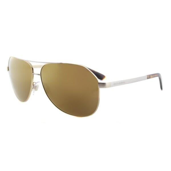 Dolce and Gabbana DG 2144 129713 Gold Metal Aviator Brown Gradient Lens Sunglasses