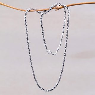 Handcrafted Sterling Silver 'Ancient Wheat' Necklace (Indonesia)