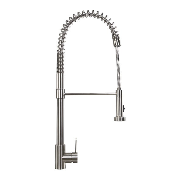 Highpoint Collection 27 Inch Modern Stainless Pull-Down Kitchen Faucet
