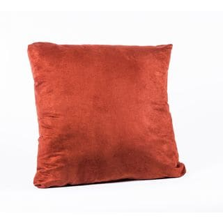 Passion Suede Brick 22-Inch Square Decorative Pillow