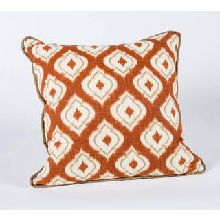 Macie Pumpkin Barley Corded 17-Inch Square Decorative Pillow