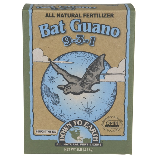 Down to Earth 07886 2-pound Bat Guano All Natural Fertilizer 9-3-1