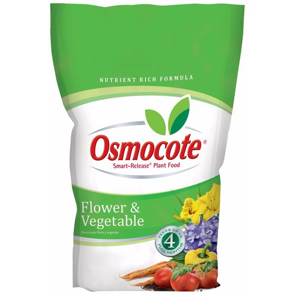 Osmocote 277960 8-pound Flower & Vegetable Smart Release Plant Food 14-14-14