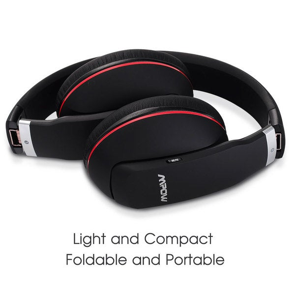 Mpow Black Bluetooth Wireless Noise-canceling Headphones