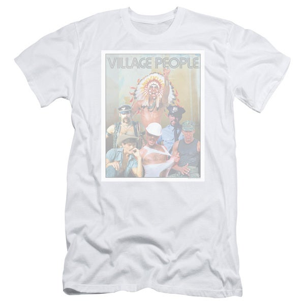 Village People/Group Photo Short Sleeve Adult T-Shirt 30/1 in White