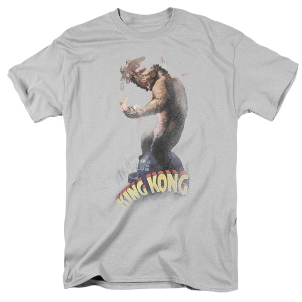 King Kong/Last Stand Short Sleeve Adult T-Shirt 18/1 in Silver