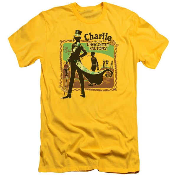 Chocolate Factory/Chocolate River Short Sleeve Adult T-Shirt 30/1 in Yellow
