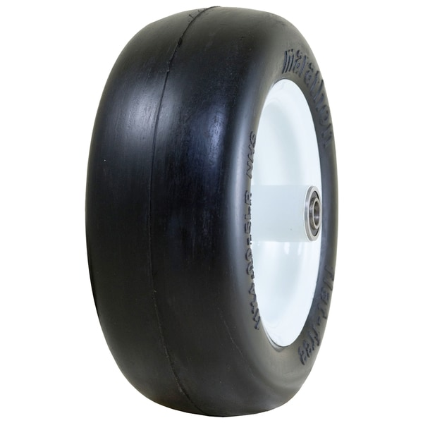 Marathon Industries 01411P 11 X 4.00 - 5 Inches Smooth Treat Flat Free Lawn Mower Tire 20048395