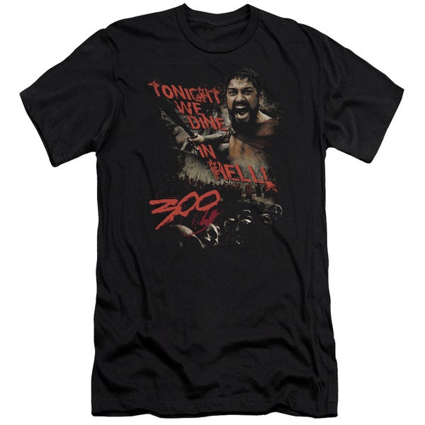 300/Dine in Hell Short Sleeve Adult T-Shirt 30/1 in Black