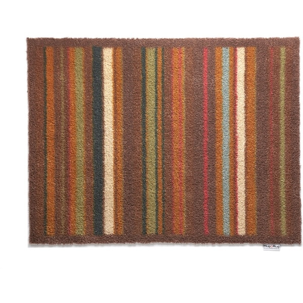 Hug Rug Eco-Friendly Dirt Trapper Multi Stripe Brown Washable Accent Rug (2'1.5 x 2'9.5)