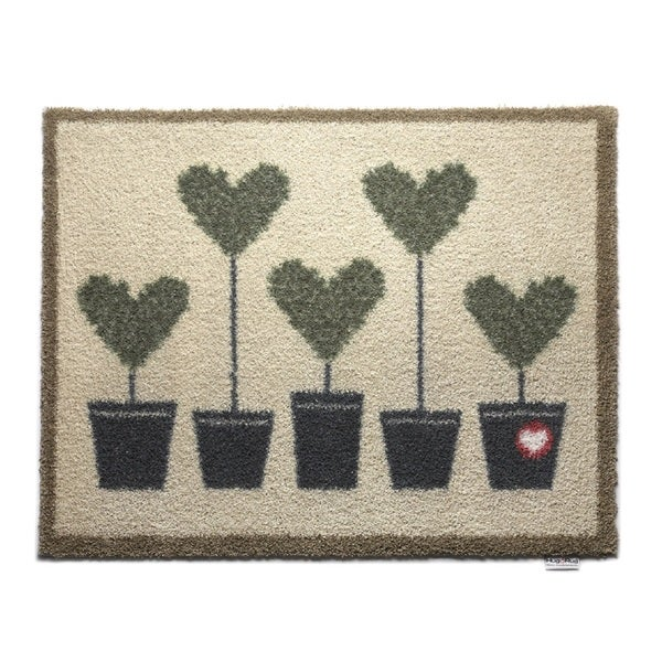 Hug Rug Eco-Friendly Dirt Trapper Potted Hearts Washable Accent Rug (2'1.5 x 2'9.5)