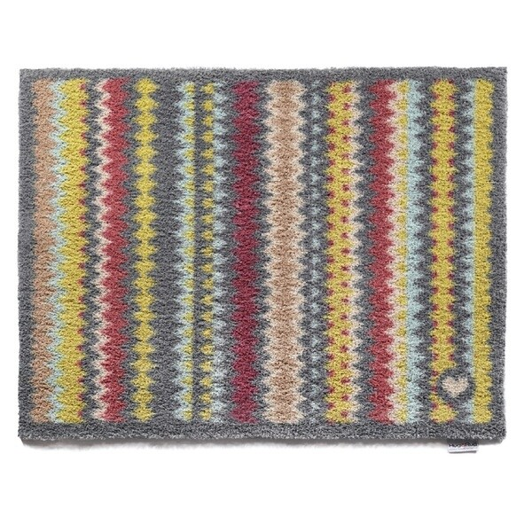 Hug Rug Eco-Friendly Dirt Trapper Designer Stripes Washable Accent Rug (2'1.5 x 2'9.5)