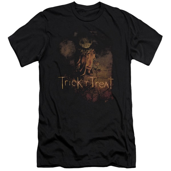 Trick R Treat/Movie Poster Short Sleeve Adult T-Shirt 30/1 in Black