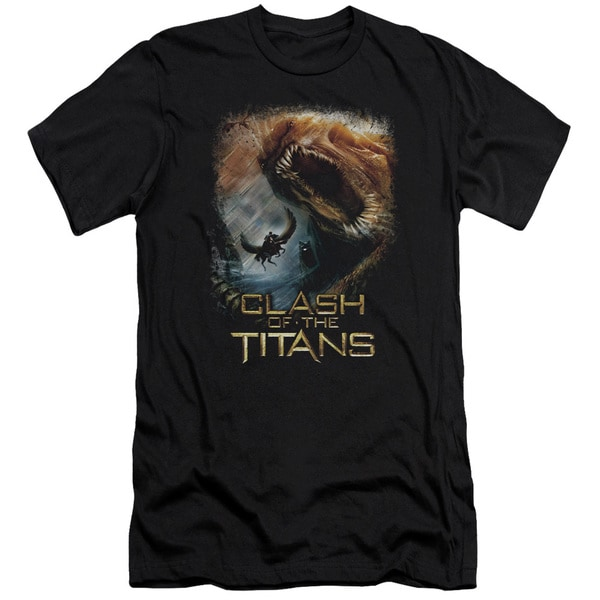 Clash Of The Titans/Kraken Clash Short Sleeve Adult T-Shirt 30/1 in Black