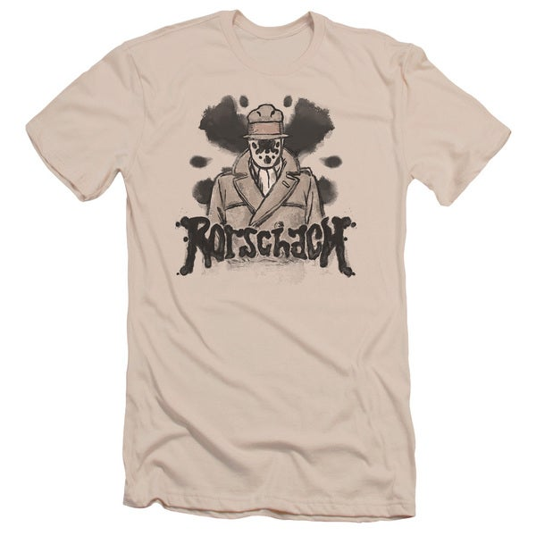 Watchmen/Ink Blot Short Sleeve Adult T-Shirt 30/1 in Cream