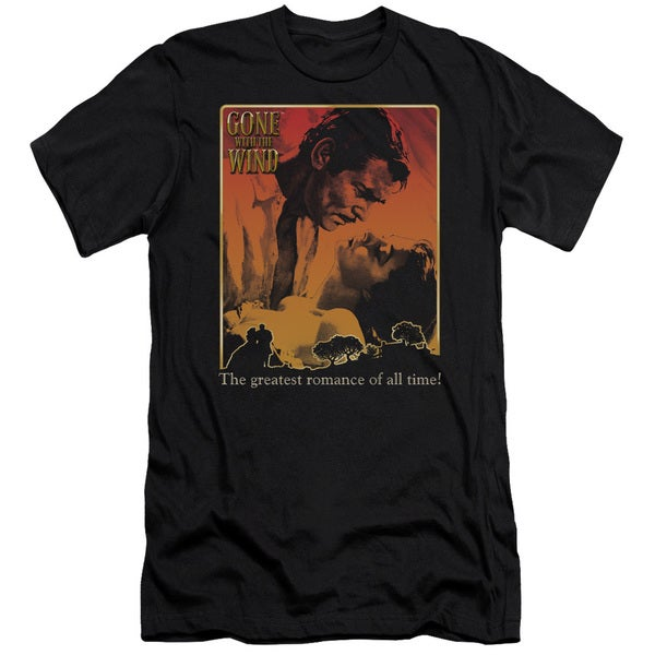 Gone With The Wind/Greatest Romance Short Sleeve Adult T-Shirt 30/1 in Black