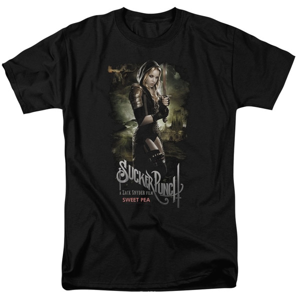 Sucker Punch/Sweet Pea Poster Short Sleeve Adult T-Shirt 18/1 in Black