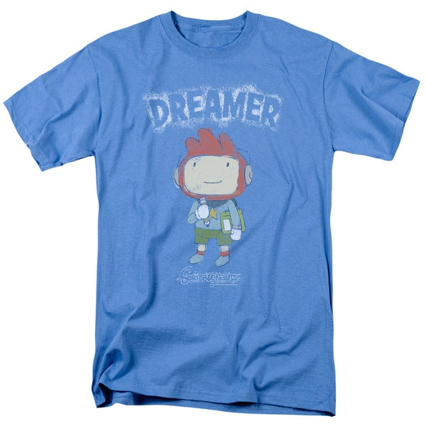 Scribblenauts/Dreamer Short Sleeve Adult T-Shirt 18/1 in Carolina Blue