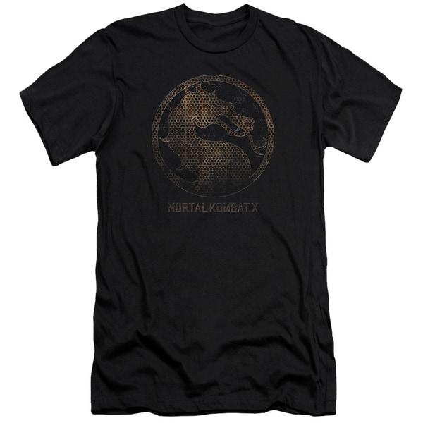 Mortal Kombat X/Metal Seal Short Sleeve Adult T-Shirt 30/1 in Black
