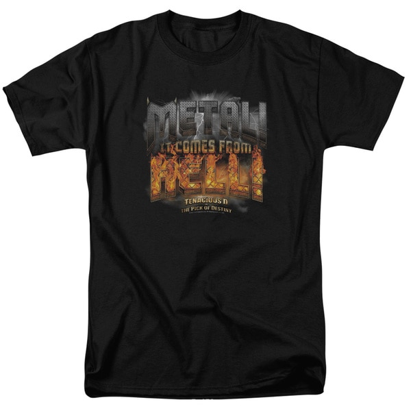 Tenacious D/Metal Short Sleeve Adult T-Shirt 18/1 in Black/Md