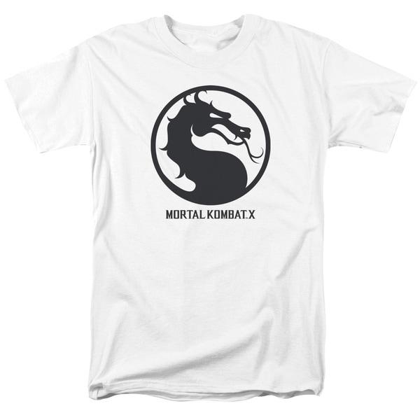 Mortal Kombat X/Seal Short Sleeve Adult T-Shirt 18/1 in White