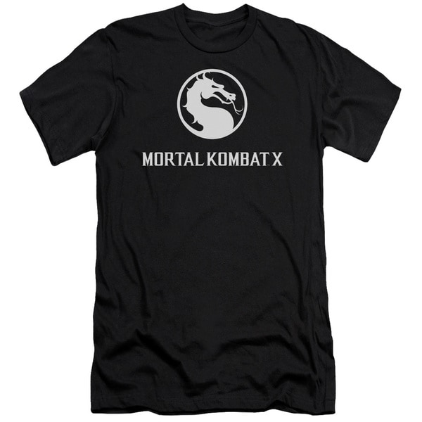 Mortal Kombat X/Dragon Logo Short Sleeve Adult T-Shirt 30/1 in Black