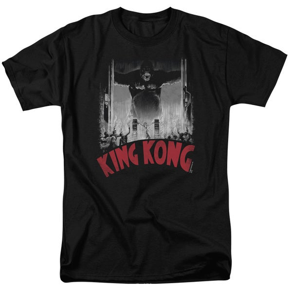 King Kong/At The Gates Poster Short Sleeve Adult T-Shirt 18/1 in Black